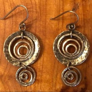 W1756 Silpada .925 Sterling Silver Spiral Earrings